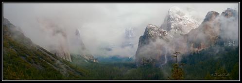 Tunnel View Panorama, Yosemite.