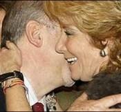 Aguirre y Rato se saludan