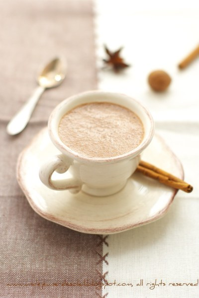 Spiced chocolate smoothie