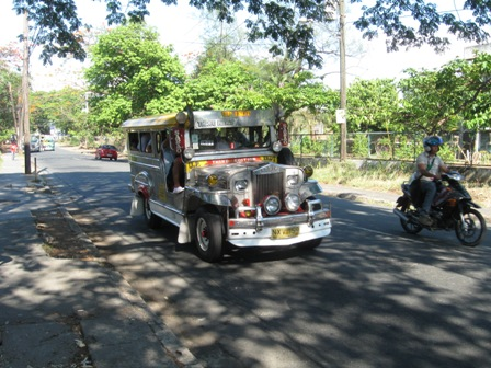 Image of a jeepney plying the route, UP Ikot
