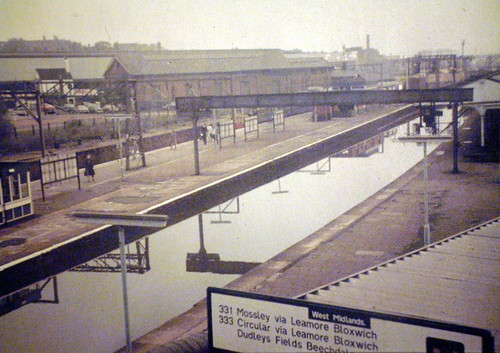 A railway station, not a canal! Walsall mid 1970's