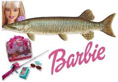 Barbie Hooks a Muskie
