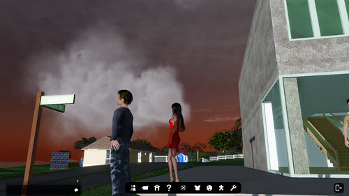 Sunset clouds in Tharsis