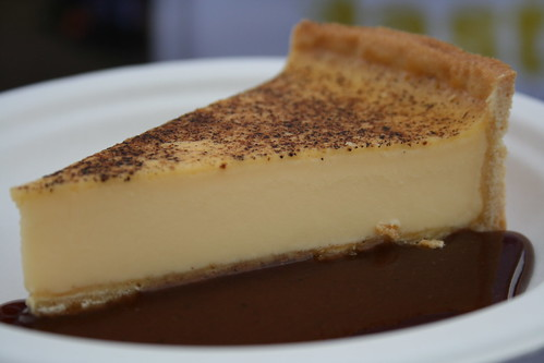 Rhodes 24 - Baked egg custard tart with raisin syrup