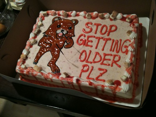 Even Pedobear showed up for @kimli's party - yes, I recycled her cake for my post