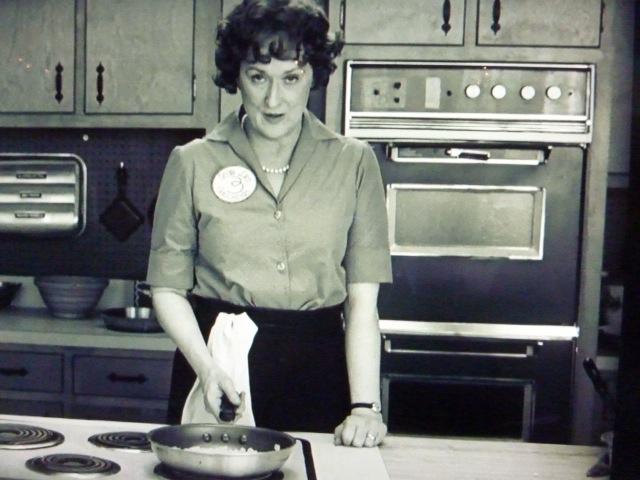 Meryl Streep playing Julia Child