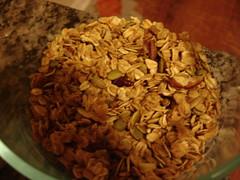 Granola variation--maple with pumpkin seeds