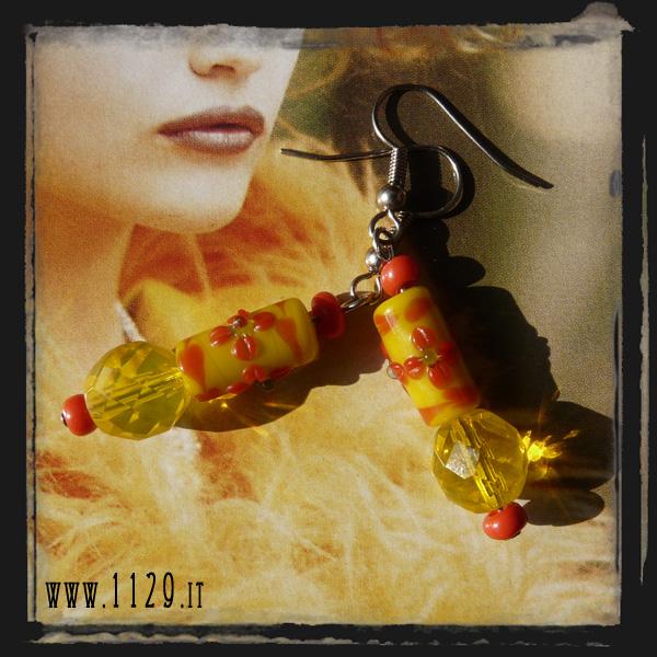 orecchini gialli - yellow earrings LBGINE