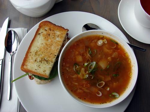 soup + sandwich