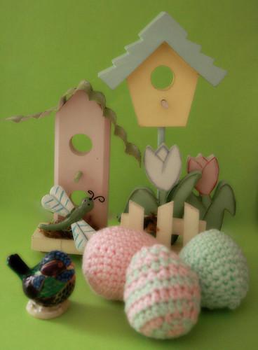 365-114 * Crochet Eggs