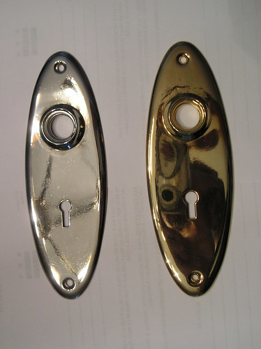 escutcheon plate (after replating)