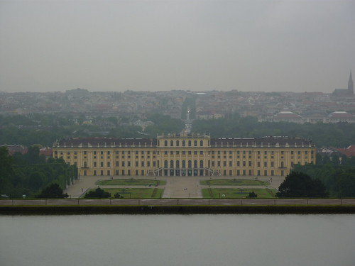 a view of Schonbrunn palace - rear view