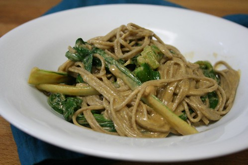 Soba Noodles and Baby Bok Choy