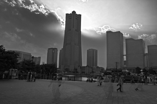 Yokohama ghosts HDR BW