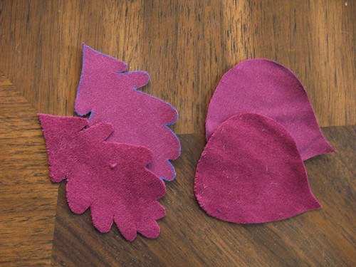 Velvet Leaf Ornament Step 1