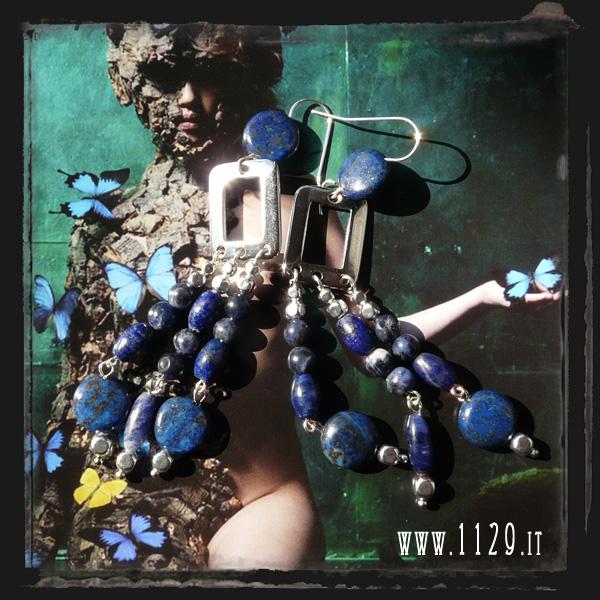 orecchini blu lapis blue earrings LBLAPIS