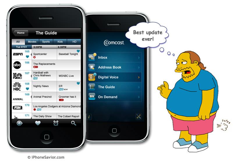 Comcast Mobile App DVR Control