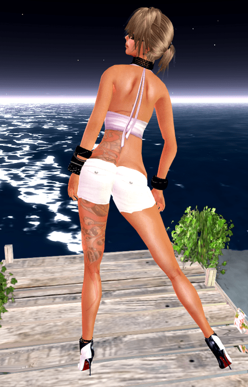 NEW! ::HH:: Hucci Low Rise Linen  Shorts & Ruffle Halter