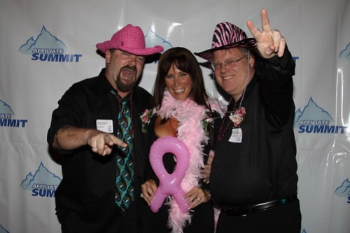 Rocky Barbanica, Missy Ward and Robert Scoble at Affiliate Summit Cocktails for a Cure