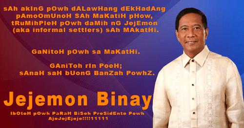 Jejemon Binay
