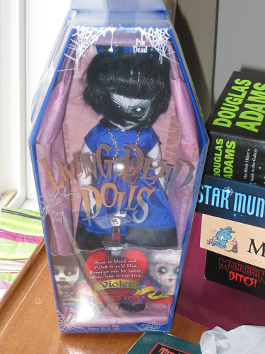 I'm not sure this Living Dead Doll really counts toward bits of awesome, but we think so.