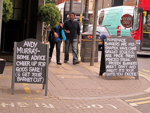 Wimbledon pub signs.