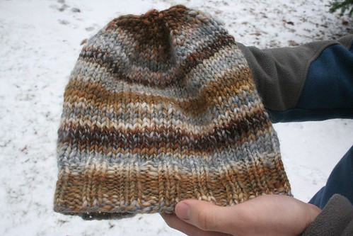 for Rav: handspun Thorpe-ish hat