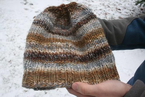 for Rav: handspun Thorpe-ish hat