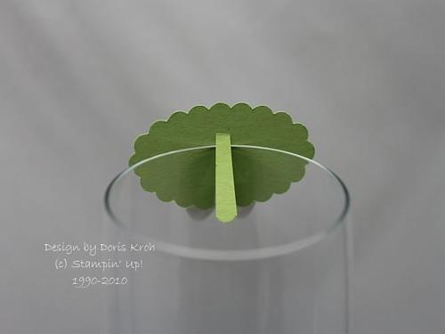 Tischkärtchen am Glas