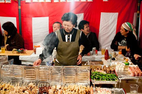 Yakitori stall