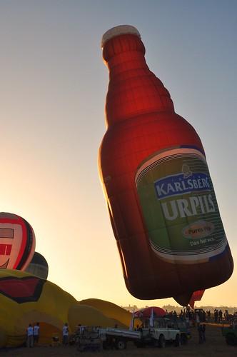 Karlsberg Beer in Hot Air Balloon Fiesta 2010