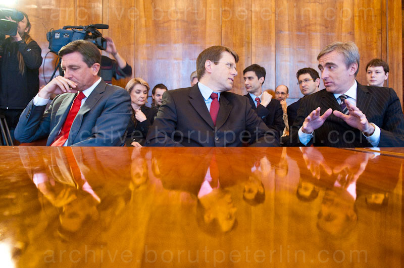 borut pahor samuel zbogar ales zalar photo: Borutpeterlin.com 20100323_5040