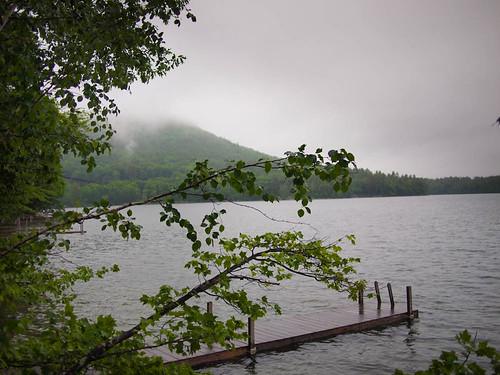 Squam lake is beautiful in the rain