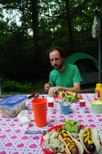 camping in Promised Land state park, PA