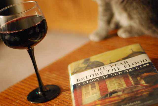 a glass of wine and a good book