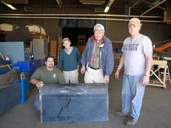 Rob Brucato, Bill Digney, Pete Renson and Ed McGuinness w/ port inboard flap