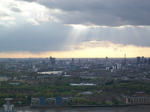 Central London Skyline from the Docklands