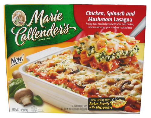 Marie Callender's Chicken, Spinach and Mushroom Lasagna Multi-Serve Bakes