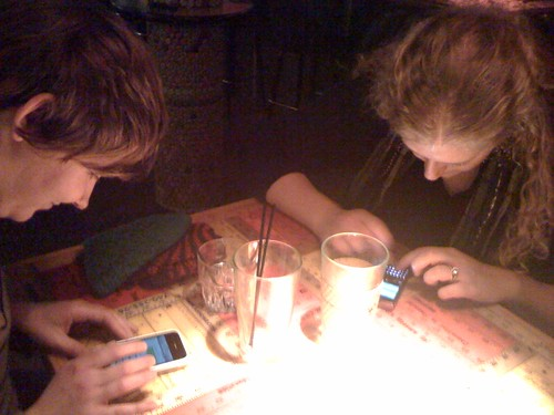 texting from the bar :P