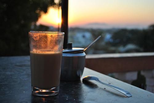 Chai at sunrise