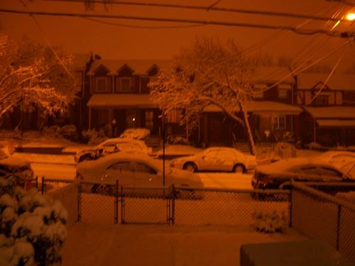The snow starts...