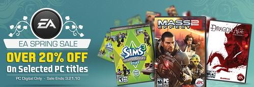 EA Spring Sale 2010 - 20% off of Digital PC Games