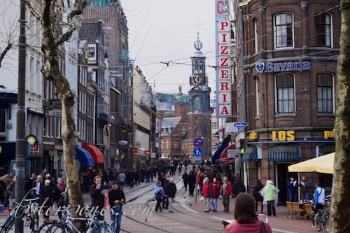 Munttoren desde Rembrandtplein