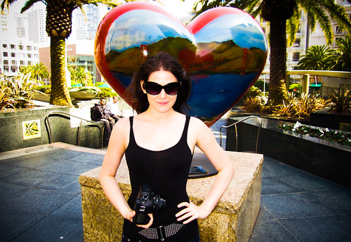Lisa Bettany with SF Heart in Union Square