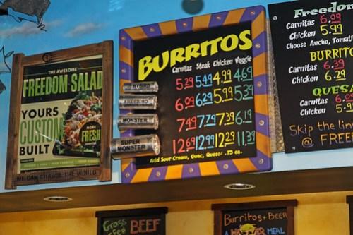freebirds burrito menu