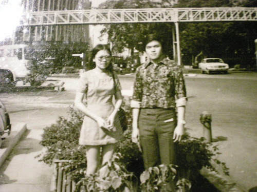 With Jane, Dhoby Ghaut, Singapore - 1973