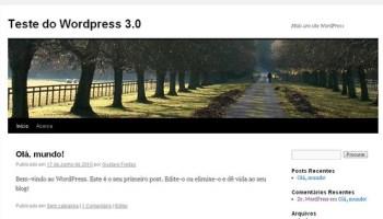 como instalar o wordpress 3.0