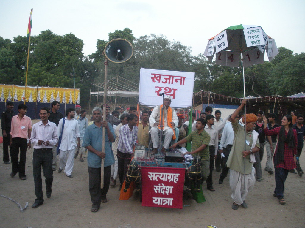 Pics from the satyagraha - 12 Oct 2010 - 1