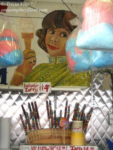 Cotton Candy, Saltwater Taffy and Hand-painted Signs at Paul's Daughter. November 6, 2010. Photo © Tricia Vita/me-myself-i via flickr