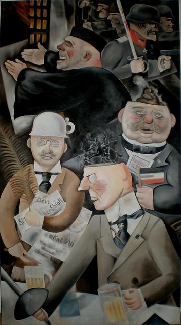 George Grosz : Pillars of Society (1926)
